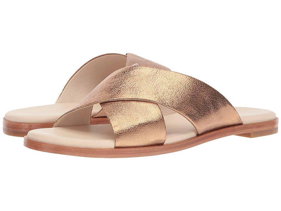 Cole Haan Anica Crisscross Sandal (Gold Glitter Metallic) Women