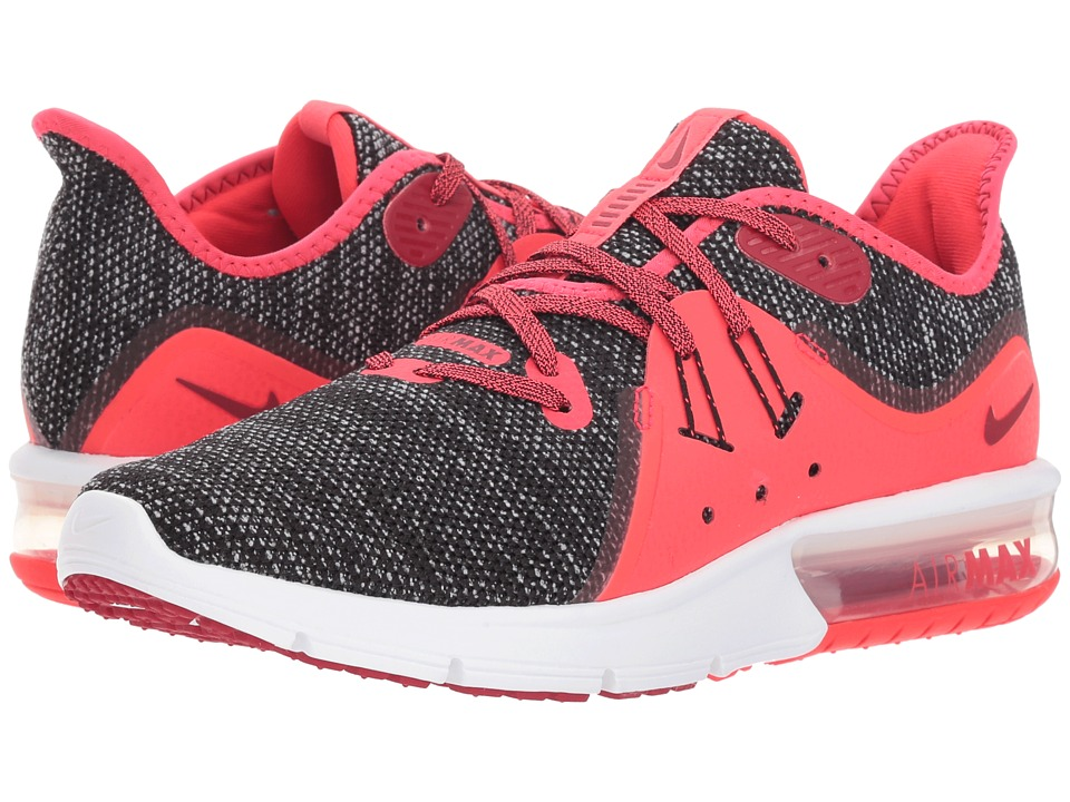 Nike Air Max Sequent 3 (Black/Red Crush/White/Red Orbit) Women's Shoes