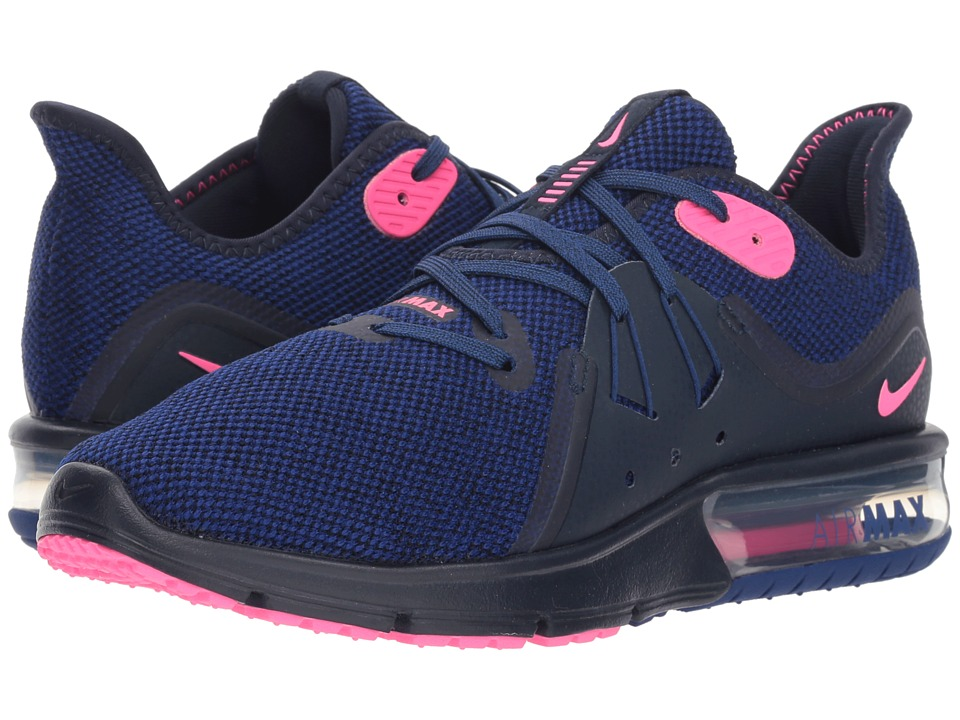 Nike Air Max Sequent 3 (Obsidian/Pink Blast/Deep Royal Blue) Women's Shoes