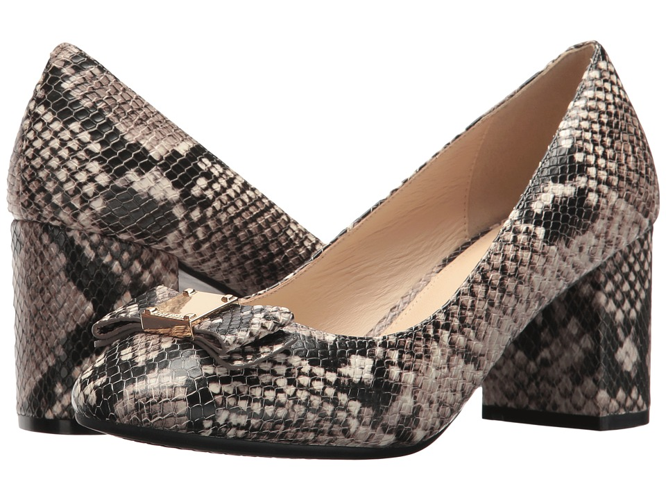 Cole Haan Tali Bow Pump (Roccia Snake Print Leather) Women's Shoes