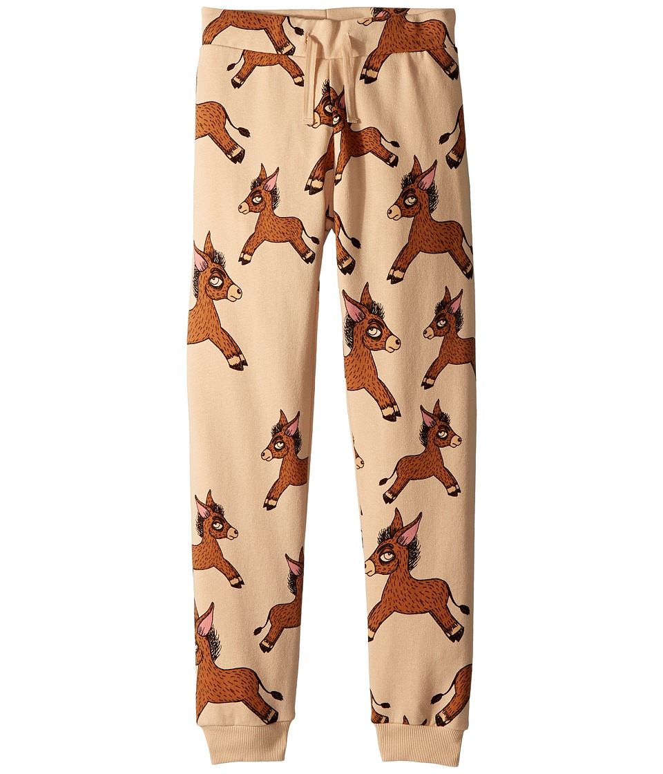 mini rodini - Donkey All Over Print Sweatpants (Infant/Toddler/Little Kids/Big Kids) (Beige) Boys Casual Pants