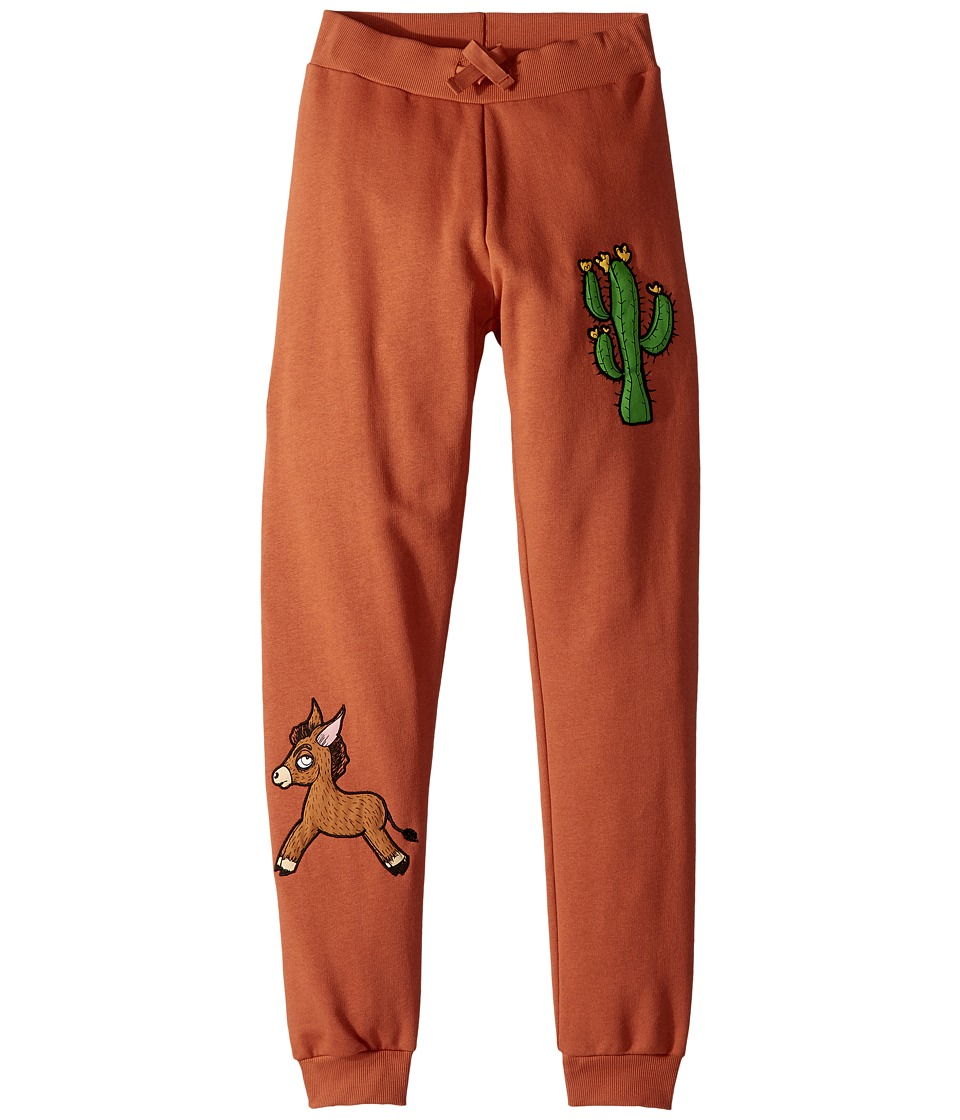 mini rodini - Donkey Cactus Sweatpants (Infant/Toddler/Little Kids/Big Kids) (Orange) Boys Casual Pants
