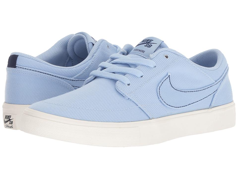 Nike SB Solarsoft Portmore II (Royal Tint/Royal Tint/Ivory/Red Crush) Women's Skate Shoes