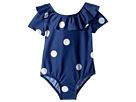 mini rodini Dot Short Sleeve Swimsuit (Infant/Toddler/Little Kids/Big Kids)