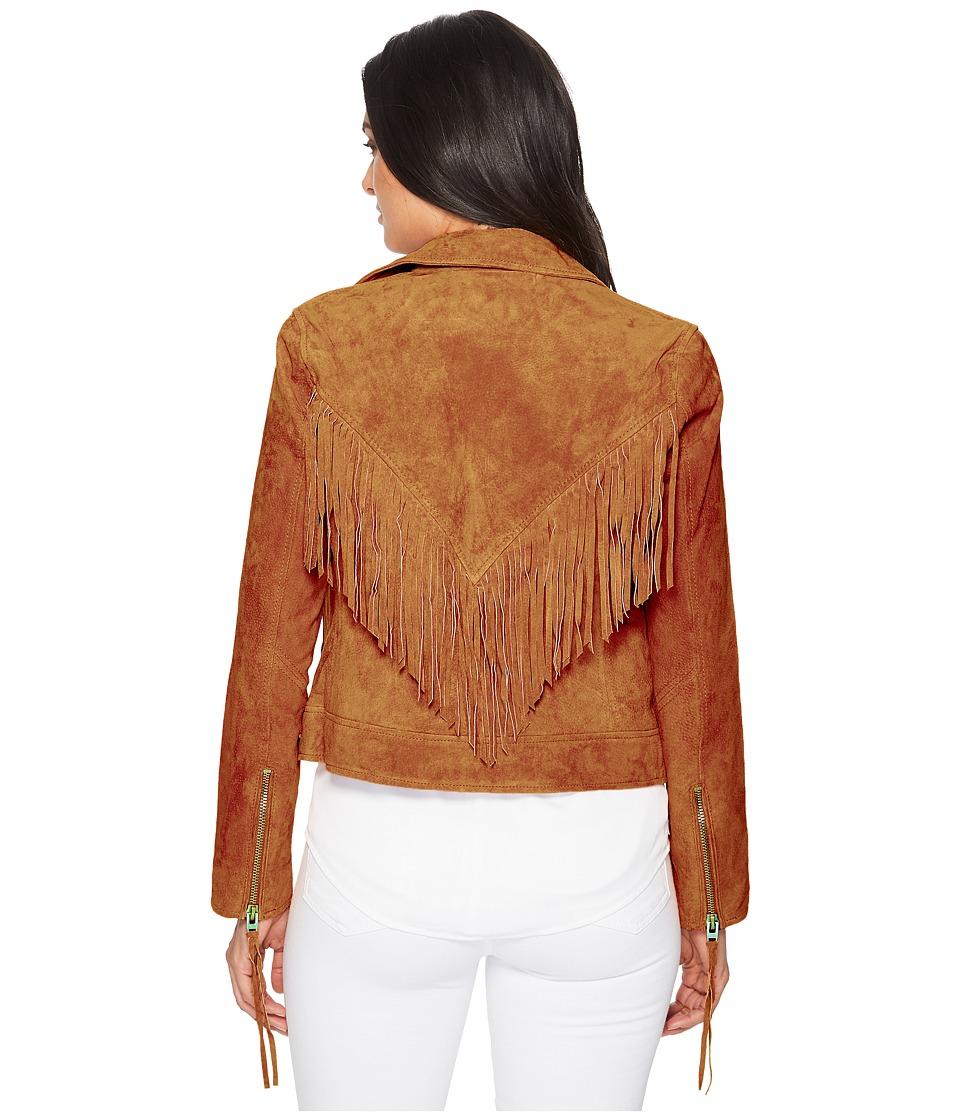Blank NYC - Suede Moto Jacket w/ Fringe (Buttercup) Women...