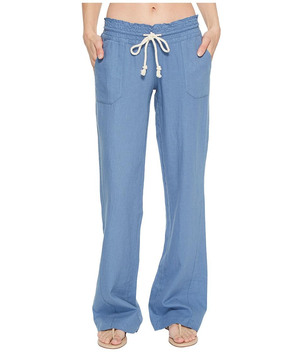 Roxy - Ocean Side Pant (Captains Blue) Womens Casual Pants