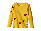 mini rodini Heart Rib Long Sleeve T-Shirt (Infant/Toddler/Little Kids/Big Kids)