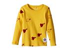 mini rodini Heart Rib Long Sleeve T-Shirt (Infant/Toddler/Little Kids/Big Kids)