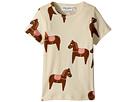 mini rodini Horse Short Sleeve T-Shirt (Infant/Toddler/Little Kids/Big Kids)