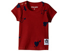 mini rodini Heart Rib Short Sleeve T-Shirt (Infant/Toddler/Little Kids/Big Kids)