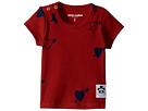 mini rodini Heart Rib Short Sleeve T-Shirt (Infant/Toddler/Little Kids/Big Kids)