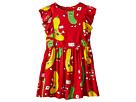 mini rodini Veggie Woven Ruffled Dress (Infant/Toddler/Little Kids/Big Kids)