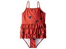 mini rodini Heart Frill Swimsuit (Infant/Toddler/Little Kids/Big Kids)