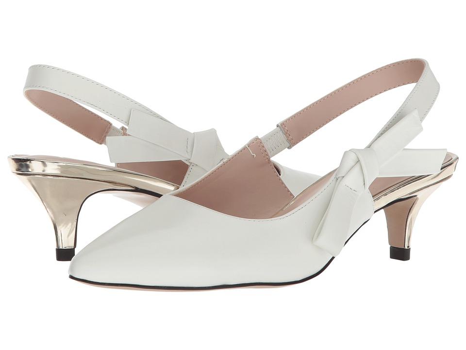Vintage Wedding Shoes, Flats, Boots, Heels Nanette nanette lepore - Rhona White Womens Shoes $99.00 AT vintagedancer.com