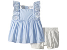Chloe Kids Two-Pieces French Embroidery Blouse/Percale Shorts (Infant)