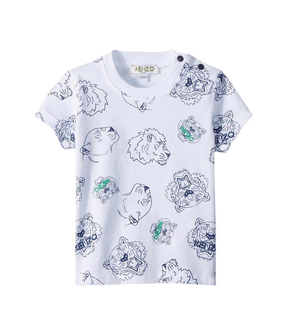 Kenzo Kids - Tee Shirt Tiger Print (Infant) (White) Boys Clothing