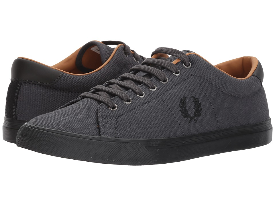 Fred Perry Underspin Heavy Waxed Canvas (Charcoal/Black) Men's Shoes