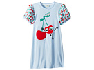 Fendi Kids Cherry Graphic T-Shirt w/ Cherry Sleeves (Big Kids)
