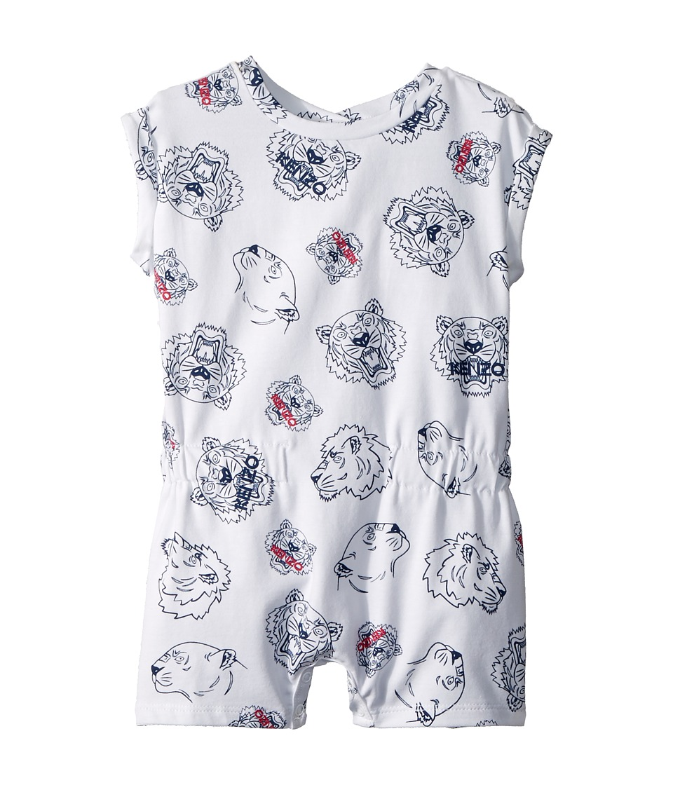 Kenzo Kids - Romper Tigers (Infant) (White) Girls Jumpsuit & Rompers One Piece