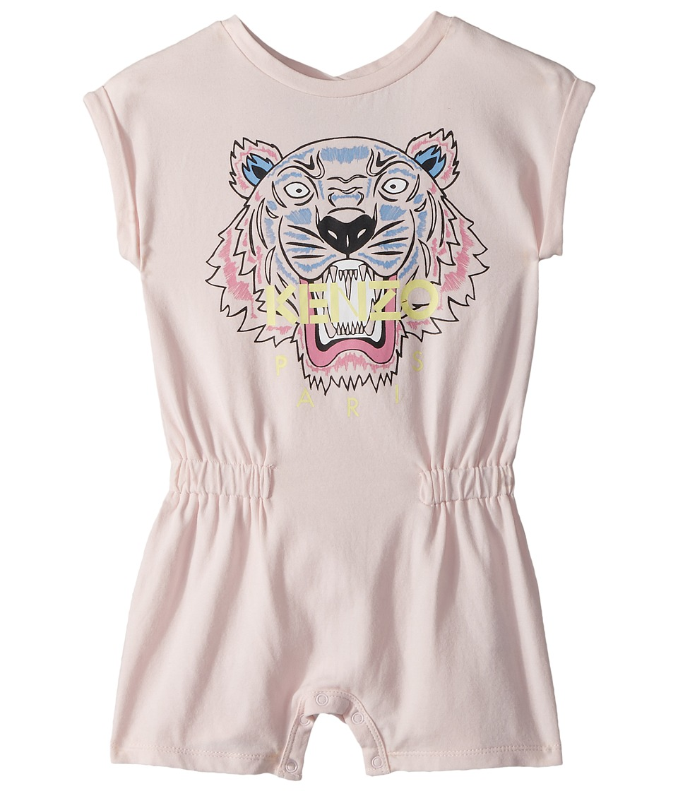 Kenzo Kids - Classic Tiger Romper (Infant) (Sweet Pink) Girls Jumpsuit & Rompers One Piece