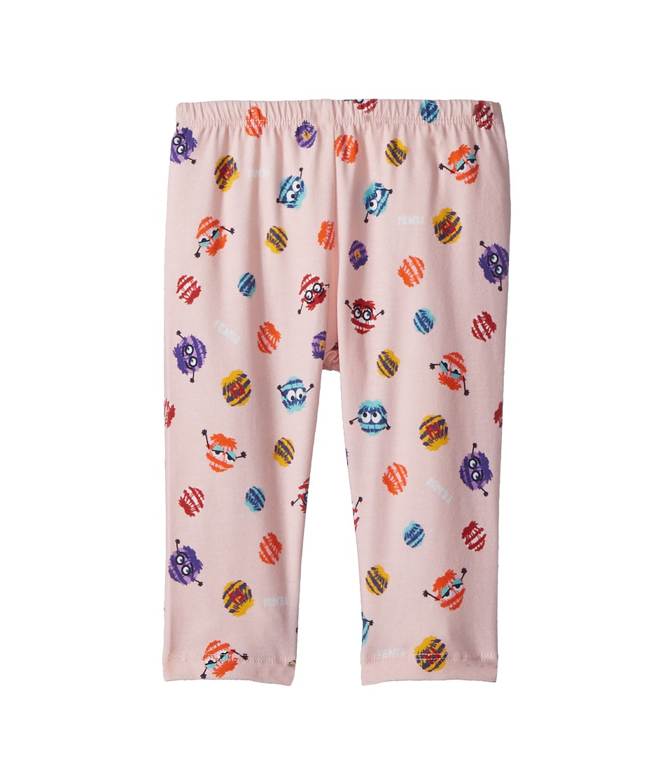 Fendi Kids - Fur Monster Print Leggings (Infant) (Pink) G...