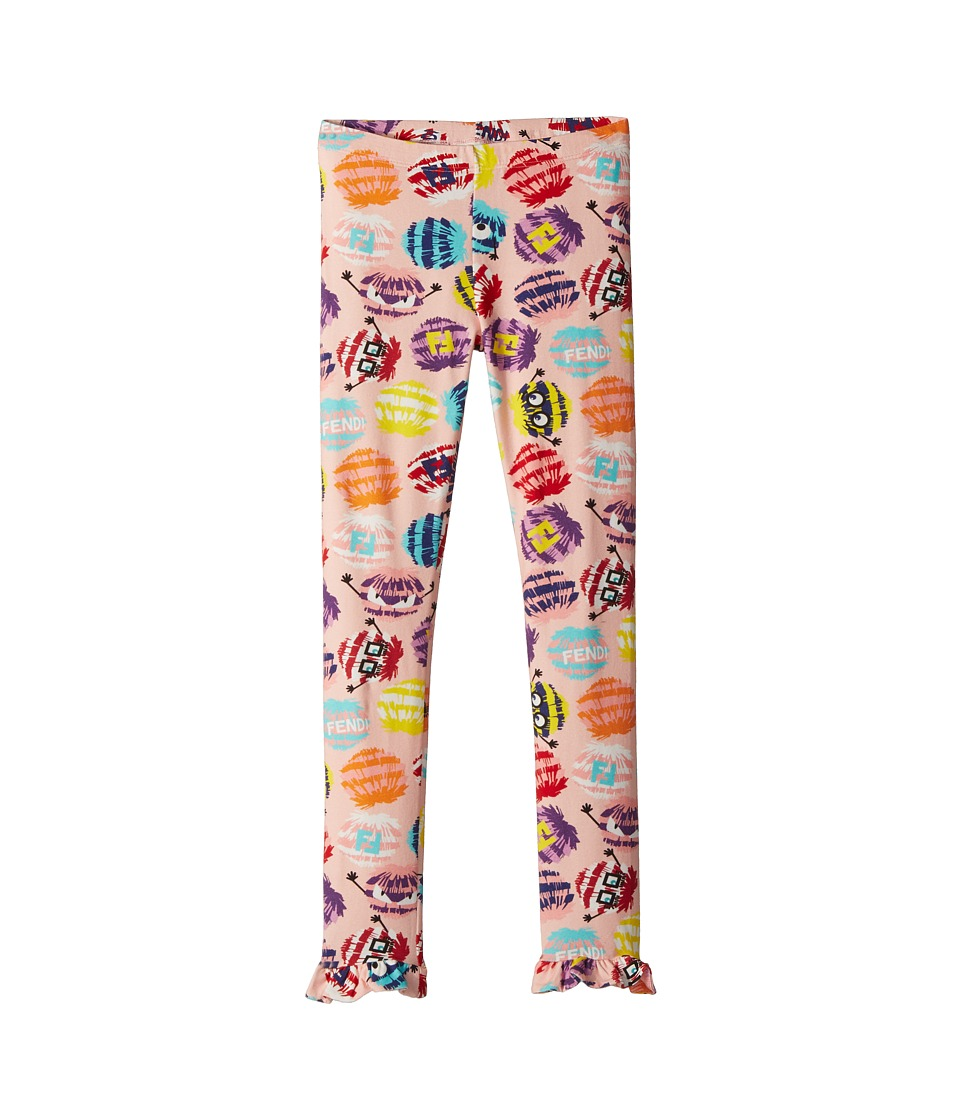 Fendi Kids - Fur Monster Print Leggings (Little Kids) (Mu...