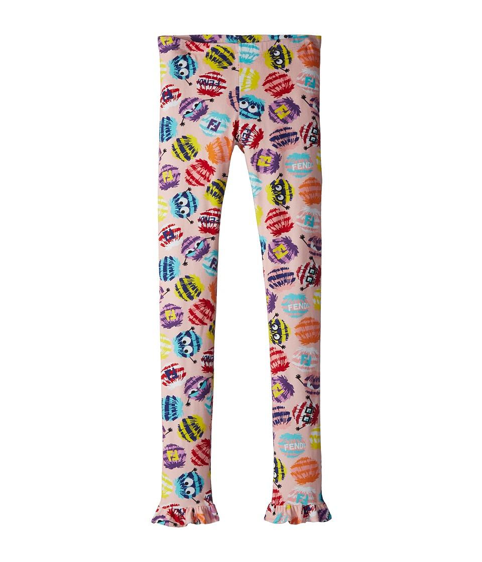 Fendi Kids - Fur Monster Print Leggings (Big Kids) (Multi...