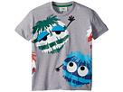 Fendi Kids Fendi Kids Short Sleeve Logo Fur Monster Graphic T-Shirt (Toddler)