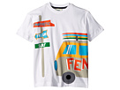 Fendi Kids Short Sleeve Logo Surf Van Graphic T-Shirt (Toddler)