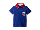 Fendi Kids Short Sleeve Polo T-Shirt w/ Football Design On Front (Toddler)