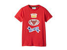 Fendi Kids Short Sleeve 'Cheer Fendi' Football Graphic T-Shirt (Toddler)