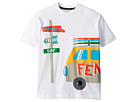 Fendi Kids Short Sleeve Logo Surf Van Graphic T-Shirt (Little Kids)
