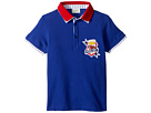 Fendi Kids Short Sleeve Polo T-Shirt w/ Football Design On Front (Little Kids)