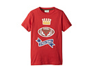 Fendi Kids Short Sleeve 'Cheer Fendi' Football Graphic T-Shirt (Little Kids)