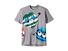 Fendi Kids Short Sleeve Logo Fur Monster Graphic T-Shirt (Big Kids)