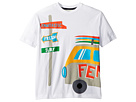 Fendi Kids Short Sleeve Logo Surf Van Graphic T-Shirt (Big Kids)