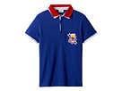 Fendi Kids Short Sleeve Polo T-Shirt w/ Football Design On Front (Big Kids)