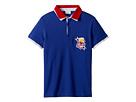 Fendi Kids Fendi Kids Short Sleeve Polo T-Shirt w/ Football Design On Front (Big Kids)