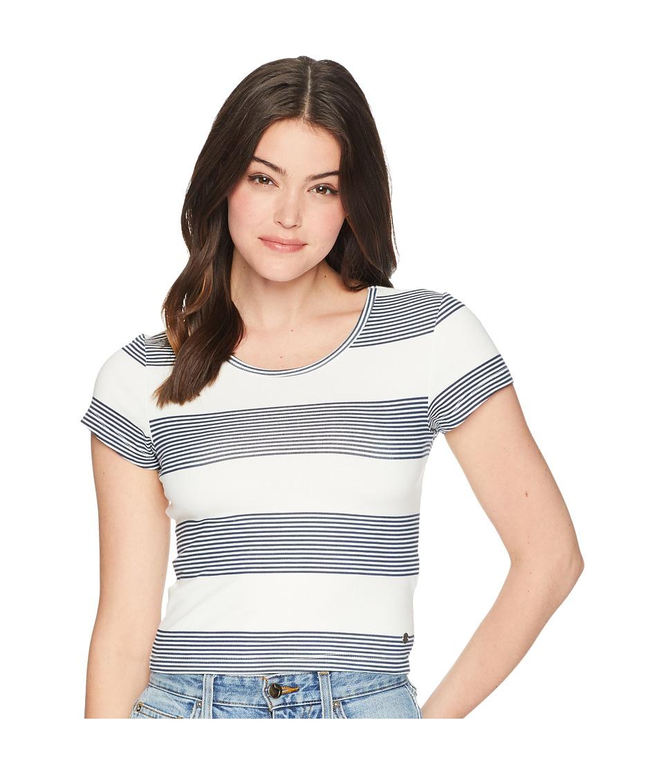 Roxy Parker Stripy Top (Marshmallow Dress Blue Docker) Wo...