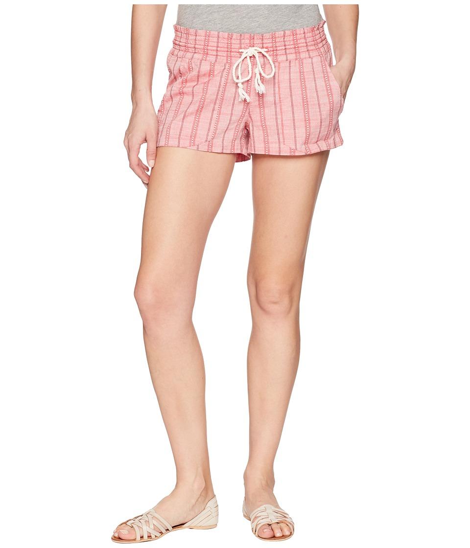 Roxy Oceanside Shorts Yarn-Dye (Holly Berry South Border) Women