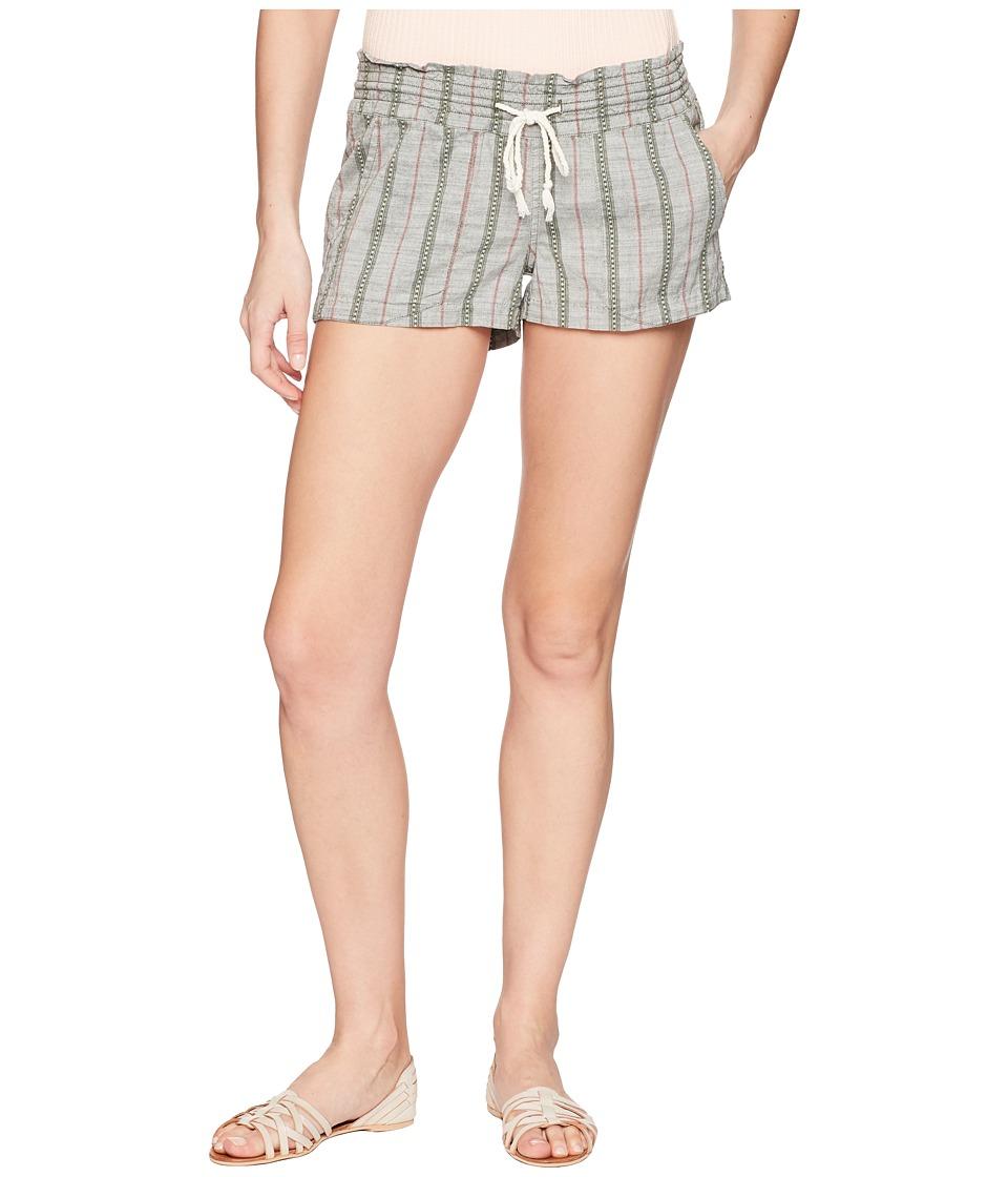 Roxy Oceanside Shorts Yarn-Dye (Thyme South Border) Women