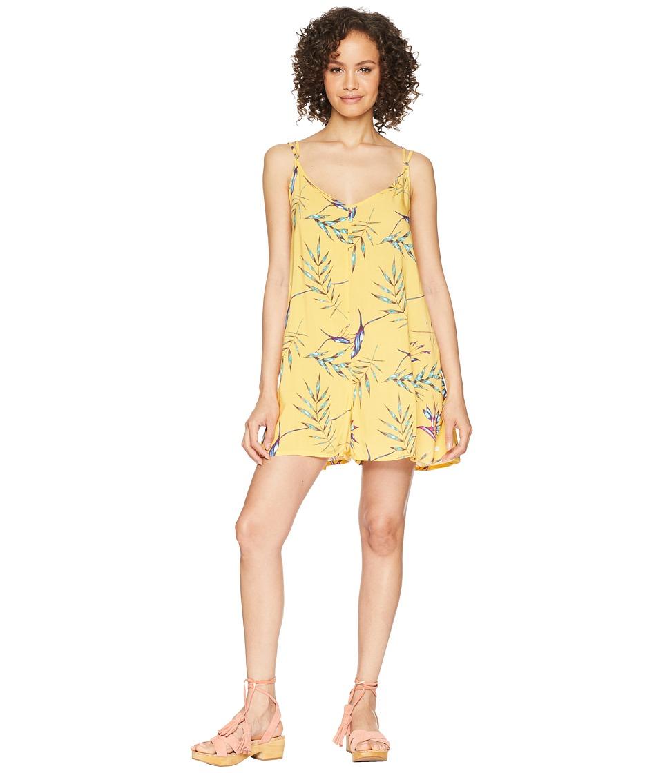 Roxy Mitten Shadow (Buff Yellow Stormy Flowers) Women