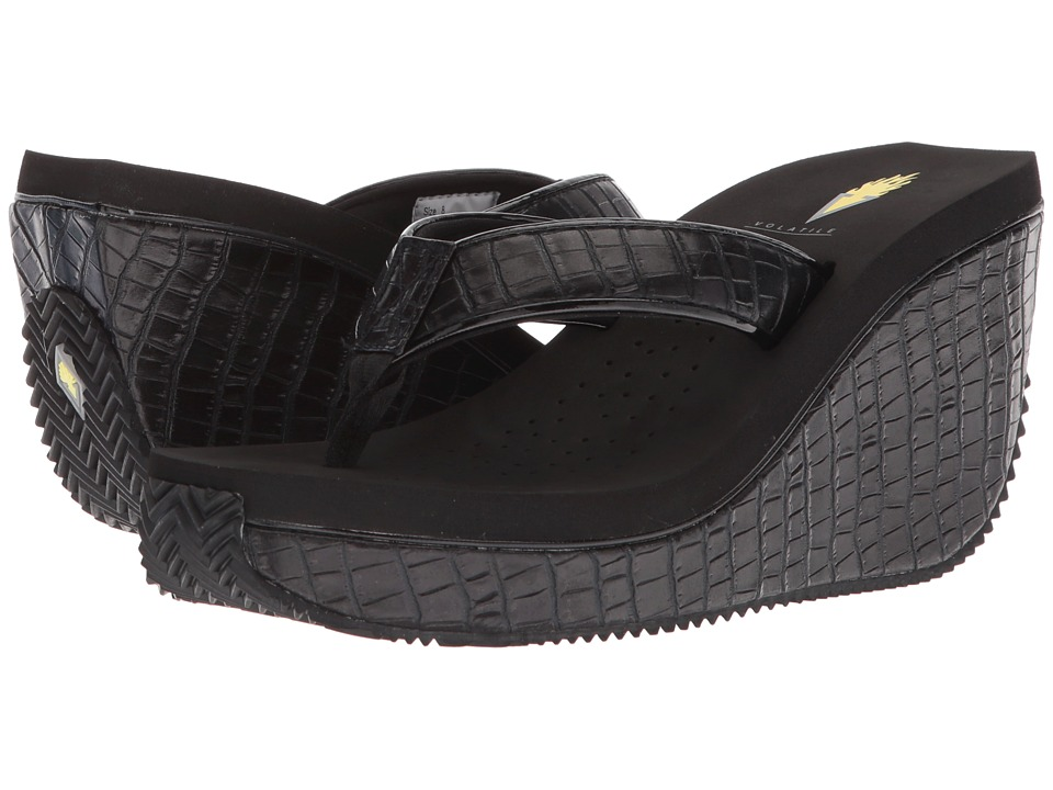 VOLATILE - Rowen (Black) Womens Wedge Shoes