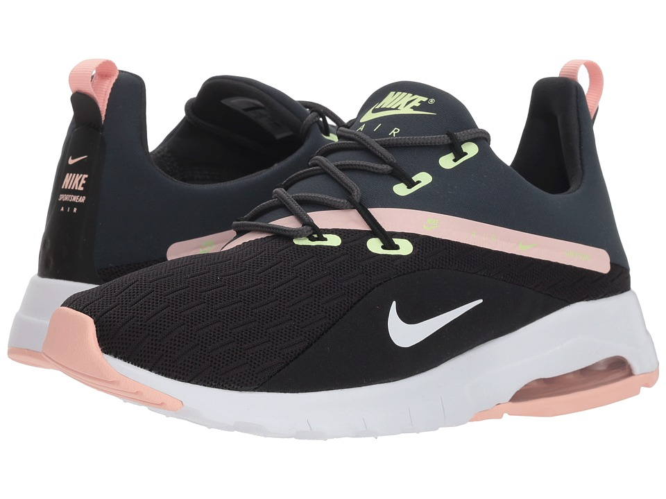 Nike Air Max Motion Racer 2 (Black/White/Anthracite/Storm Pink) Women's Shoes