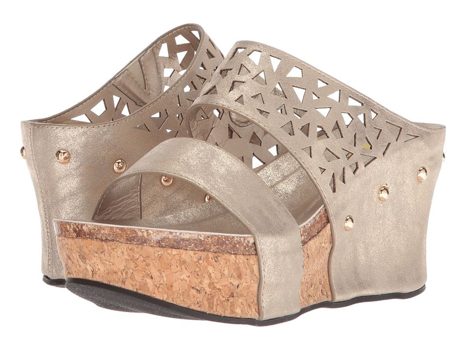 VOLATILE - Santino (Gold) Womens Wedge Shoes