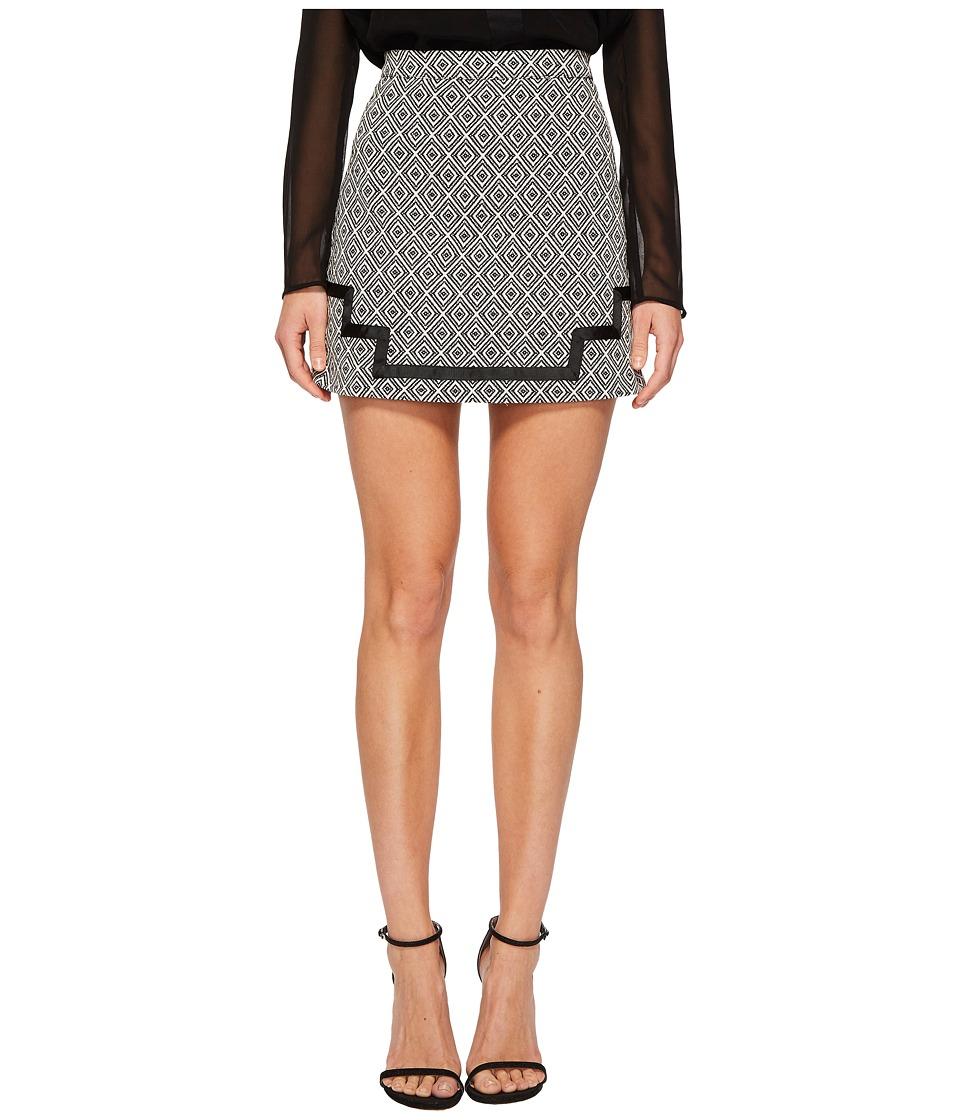 The Jetset Diaries - Arlo Mini Skirt (Black/White) Womens Skirt