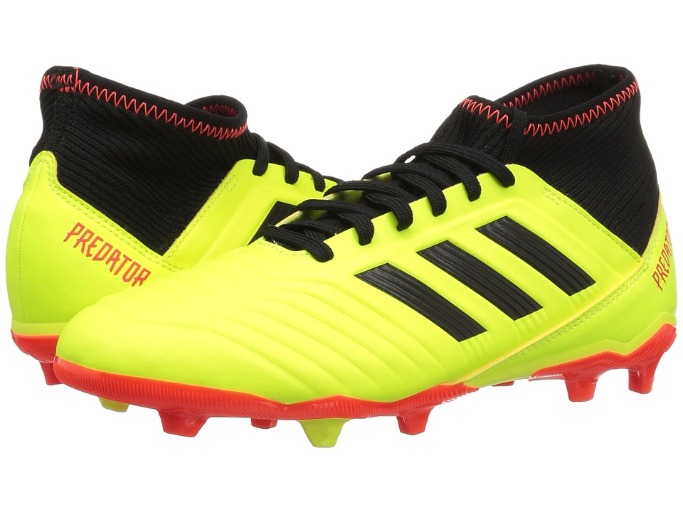 adidas Kids Predator 18.3 FG Soccer (Little Kid/Big Kid) (Yellow/Black/Red) Kids Shoes