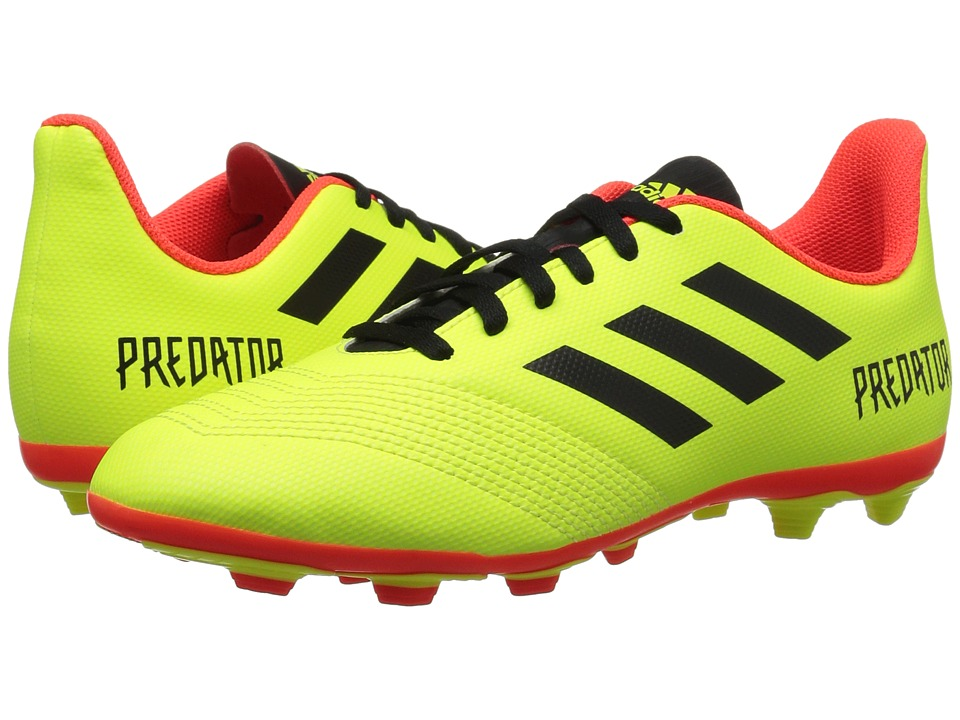 adidas Kids Predator 18.4 FxG Soccer (Little Kid/Big Kid) (Yellow/Black/Red) Kids Shoes