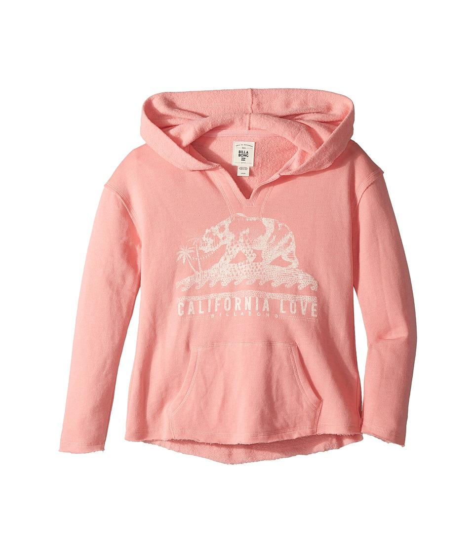 Billabong Kids - Days Off Hoodie (Little Kids/Big Kids) (Flamingo) Girls Sweatshirt