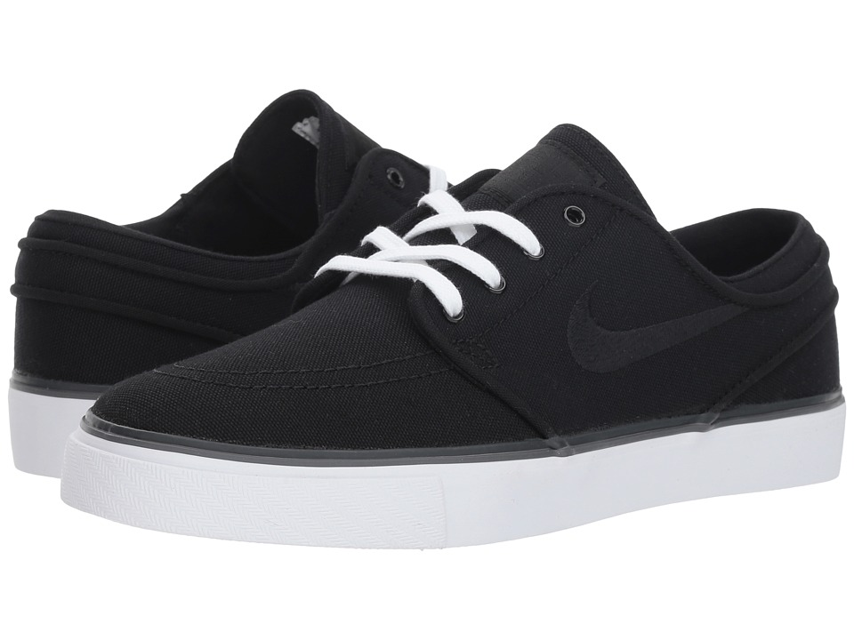 Nike SB Air Zoom Stefan Janoski Canvas (Black/Black/White) Women's Skate Shoes